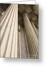 Columns Of The Supreme Court Greeting Card