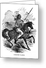 Comanche Warrior, 1879 Greeting Card