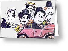 Comedians In Model T Greeting Card