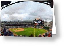 Comerica Park Home Of The Detroit Tigers Greeting Card