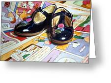 Comic Shoes Greeting Card