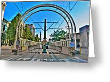 Coming And Going Downtown Main St Greeting Card