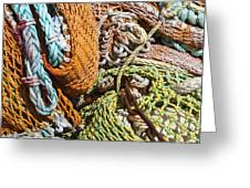Commercial Fishing Nets And Rope Greeting Card