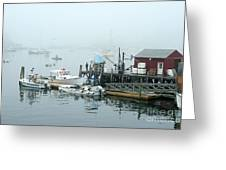 Commercial Lobster Dock Greeting Card