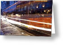 Commuter Bus Greeting Card