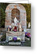 Comparison Mother Mary Shrine Greeting Card