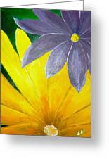 Complementary Blossoms  Greeting Card