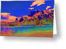 Complementary Mountains Greeting Card