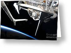 Components Of Space Shuttle Discovery Greeting Card