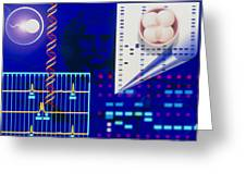 Computer Artwork Depicting Embryo Paternity Test Greeting Card