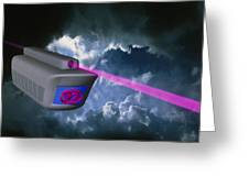 Computer Artwork Of E-mail Train On Superhighway Greeting Card