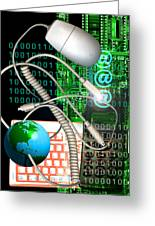 Computer Artwork Of Internet Communication Greeting Card