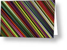 Computer Generated Stripe Abstract Fractal Flame Black Background Greeting Card