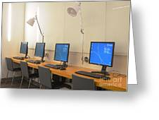 Computer Lab In A Simulation Medical Greeting Card