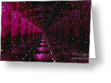 Computer Space Image Greeting Card