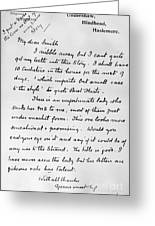 Conan Doyle: Letter Greeting Card