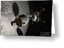 Concept Of The Orion Crew Exploration Greeting Card
