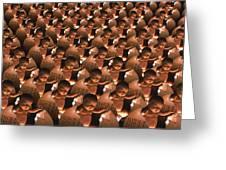 Conceptual Computer Artwork Of Human Cloning Greeting Card
