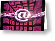 Conceptual Computer Artwork Of Internet Security Greeting Card