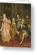 Concert At The Time Of Mozart Greeting Card by Ettore Simonetti