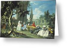 Concert In A Garden Greeting Card by Filippo Falciatore