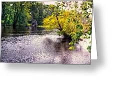 Concord River At Old North Bridge II Greeting Card by Nigel Fletcher-Jones