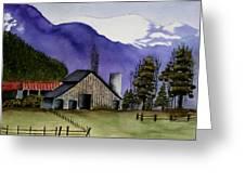 Concrete Barn Watercolor Greeting Card