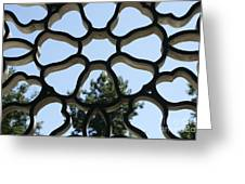 Concrete Lattice Vancouver Chinatown Greeting Card