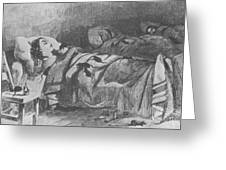 Conditions In Bellevue Hospital, New Greeting Card