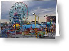 Coney Island Amusements Greeting Card