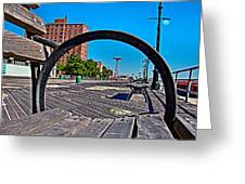Coney Island Bench View Greeting Card