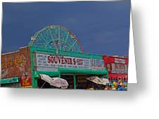 Coney Island Facades Greeting Card