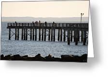 Coney Island Pier Greeting Card