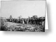 Confederate Prisoners Greeting Card