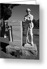 Confederate Soldier Memorial Greeting Card by Kathy Clark