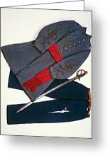 Confederate Uniform Greeting Card