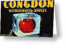 Congdon Refrigerated Apples Greeting Card