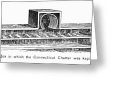 Connecticut: Charter Box Greeting Card