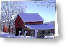 Connecticut Christmas Connecticut Usa Greeting Card by Sabine Jacobs