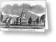 Connecticut: Church, 1836 Greeting Card