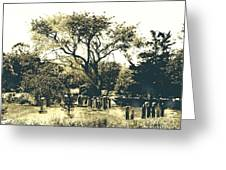 Conneticut Family Plot Greeting Card