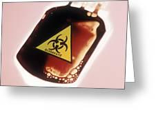 Contaminated Blood Greeting Card