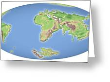 Continental Drift After 100 Million Years Greeting Card