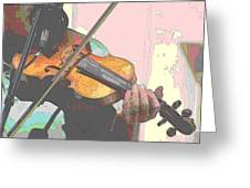 Contorno Fiddle Greeting Card