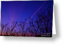 Contrail Contrast Greeting Card