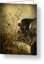 Conversation Dirt Road Greeting Card by Empty Wall