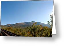Conway Scenic Railroad - Short Greeting Card by Geoffrey Bolte