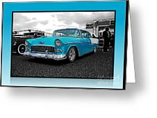 Cool Blue Chevy Greeting Card