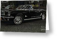 Cool Classic Mustang Greeting Card