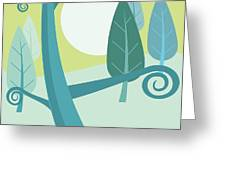 Cool Forest Greeting Card